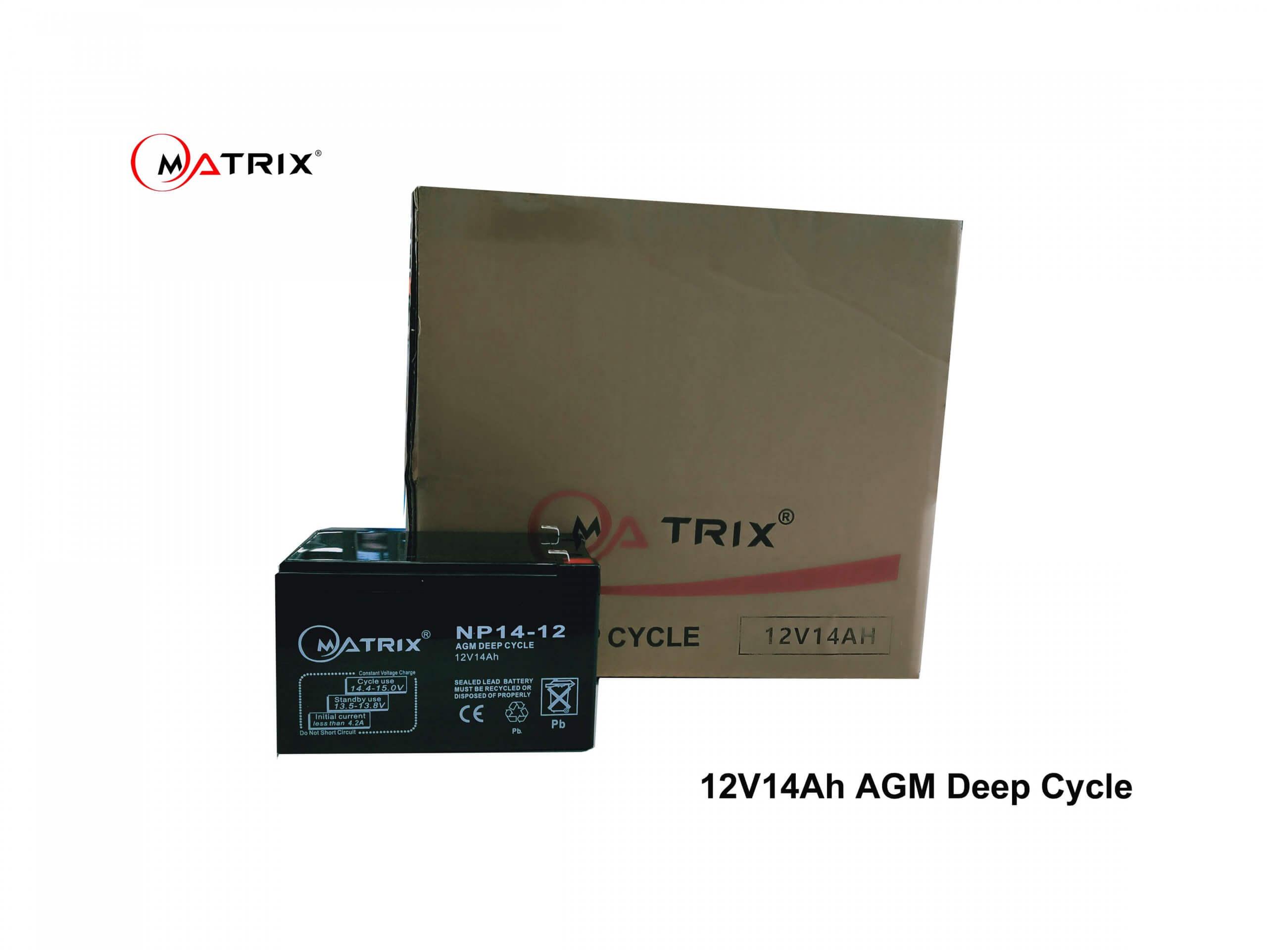 14Ah AGM Deep Cycle -boxed