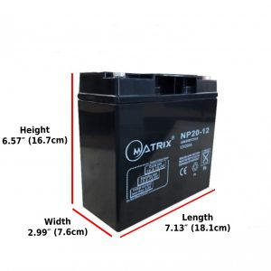 20Ah AGM Deep Cycle replacement battery