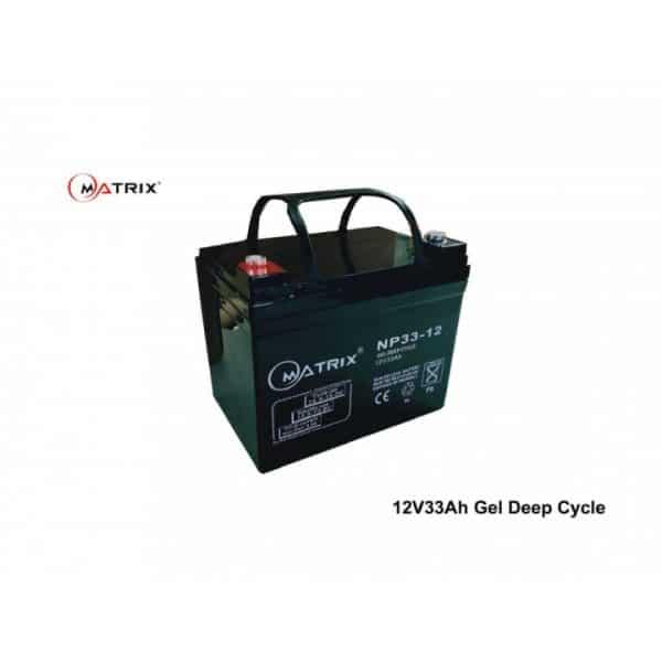 33AH Gel Deep Cycle Battery-top