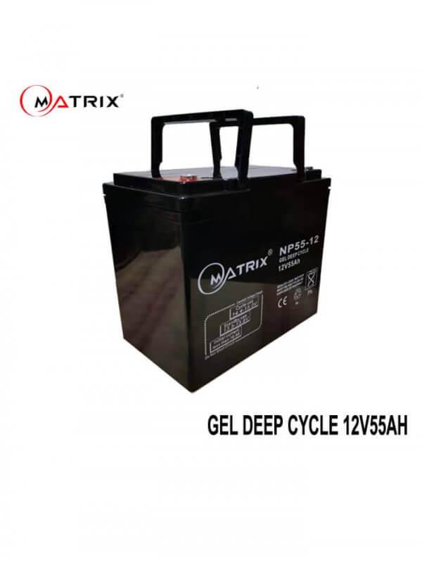 55AH Gel Deep Cycle Battery