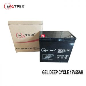 55AH Gel Deep Cycle Battery-packed