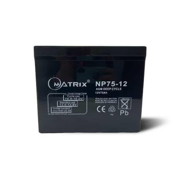12V 75Ah Deep Cycle Batteries