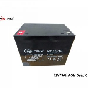 75AH AGM Deep Cycle Battery
