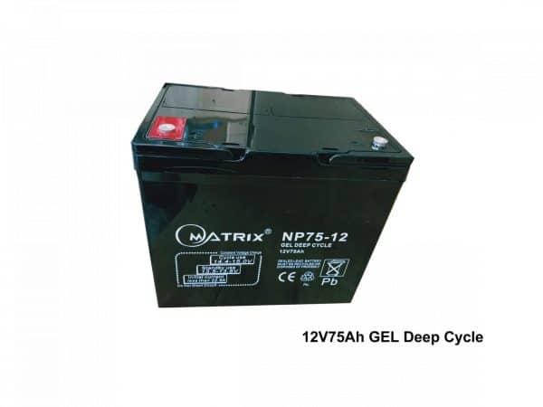 75AH Copper GEL Deep Cycle Battery