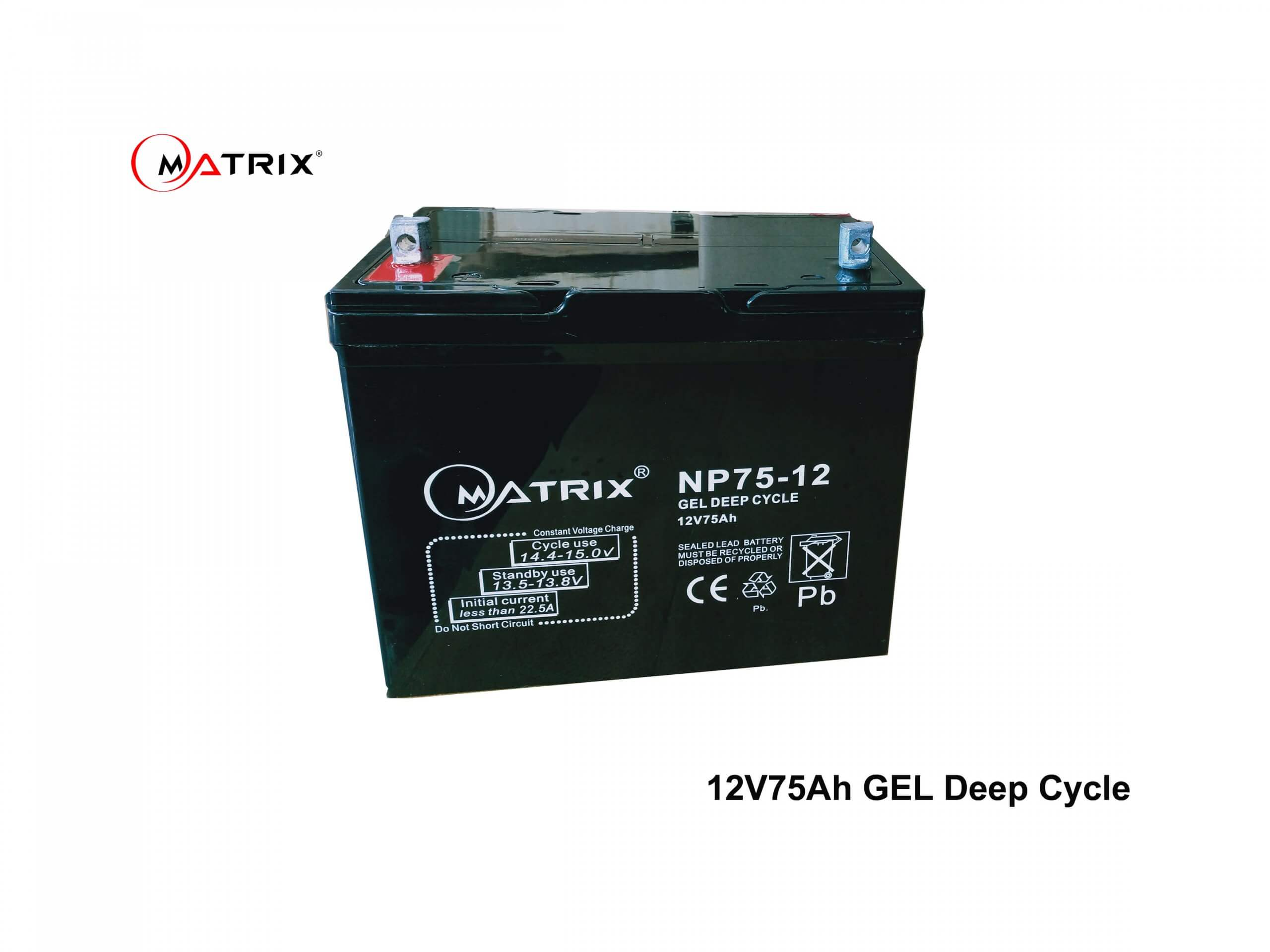 75AH Lead GEL Deep Cycle Battery