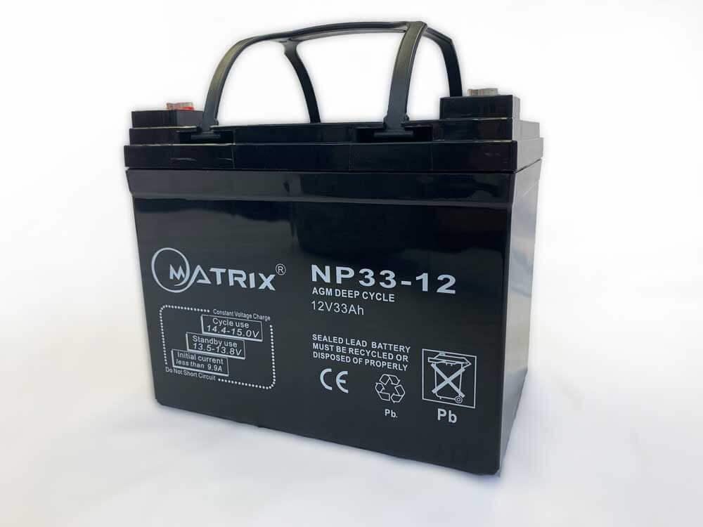 33Ah AGM Deep Cycle 12V Battery