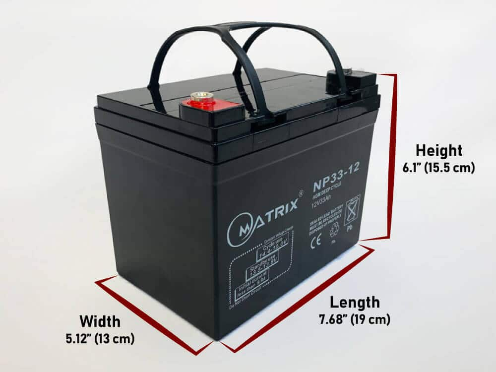 33Ah 12V agm deep cycle battery